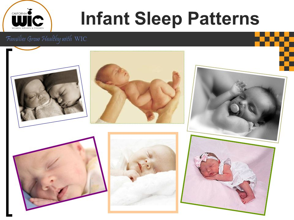 Infant Sleep Patterns Now let's talk about healthy newborn sleep patterns. [CLICK]